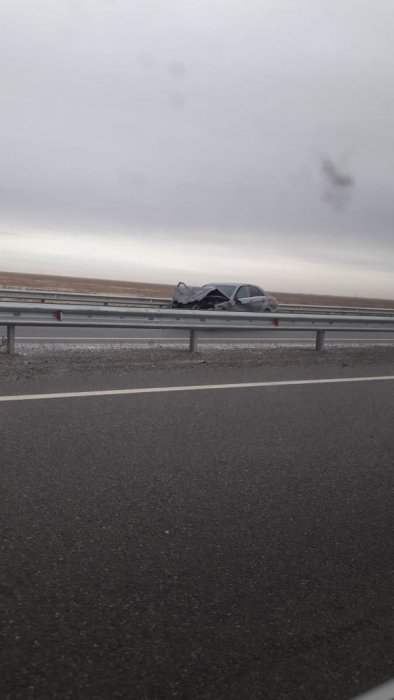 На трассе Актау-Жетыбай столкнулись несколько автомобилей