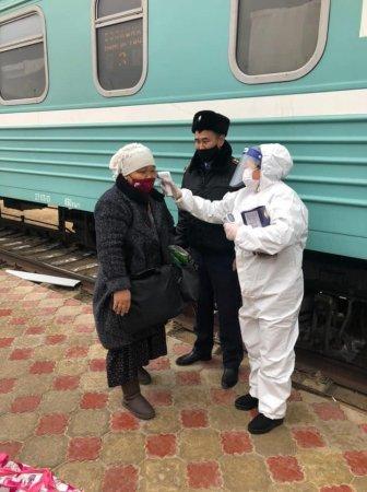 Этнические казахи вернулись из Туркменистана в Мангистау