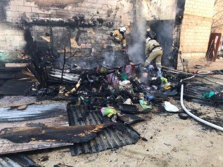 Пенсионерка пострадала при пожаре в Актау