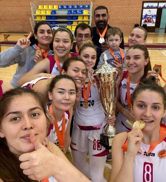 Баскетболистки «Каспия» впервые стали обладателями Кубка страны