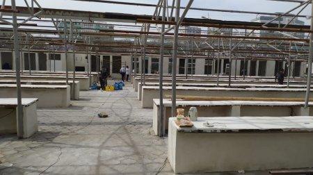 Как идёт ремонт на сгоревшем рынке «Волна» в 5 микрорайоне Актау