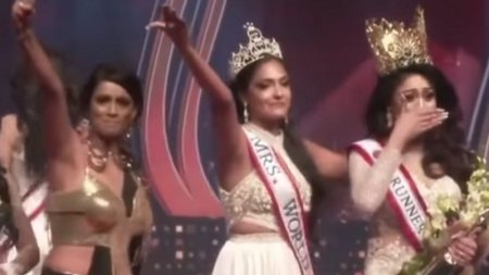 """Арестована """"Миссис мира 2020"""", отобравшая корону у """"Миссис Шри-Ланка 2021"""""""