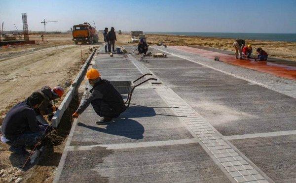 Семейный парк строят на побережье в Актау