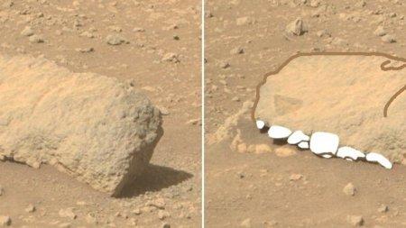 Марсоход заснял окаменевшую голову динозавра