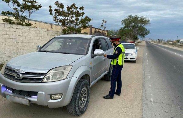 Полиция оформила около 300 нетрезвых водителей в Мангистау