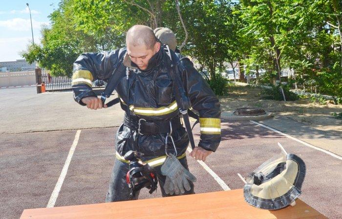 В Мангистау выбрали лучшего пожарного