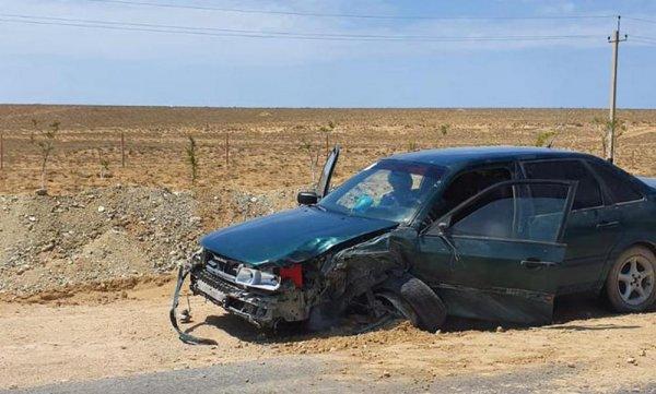 Обгон привел к ДТП с четырьмя авто в пригороде Актау