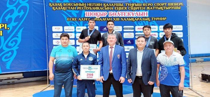 Боксеры из Мангистау завоевали восемь медалей на международном турнире по боксу памяти Шокыра Болтекулы